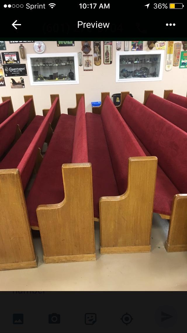 恩典留痕 - 有人赠送给我们教会长凳 Pews